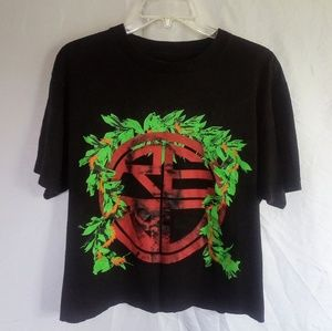 Red Label Cropped Hawaiian T-Shirt Large